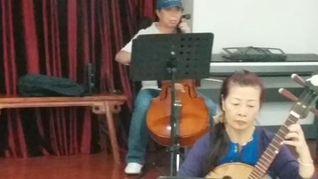 广东音乐《寒江月》北京街乐队活动场记,摄影英子