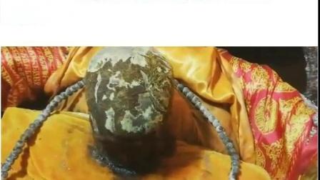 龙天欢喜!2019年4月21日,河南南阳来佛寺上海下贤老和尚法体开缸圆满完成