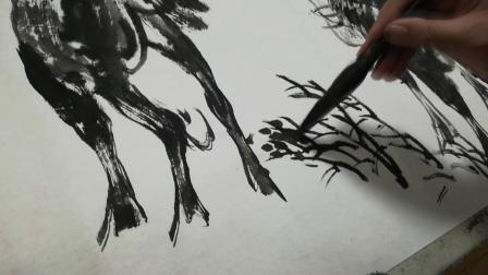著名国画家陈默艺术创作纪录片-画骆驼(金安传媒)
