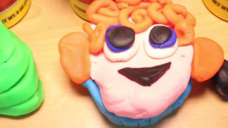 动画片,尖叫旅社2个PLAY DOH影片蛋糕万圣节