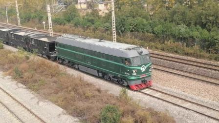 DF4—7740牵引KZ70卸渣作业中