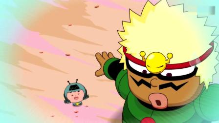 开心超人:开心超人扔掉了眼罩,他说眼罩不见了,超人们都学他!大大怪和小小怪带上了眼罩,结果大大怪和小小怪变得好大啊!