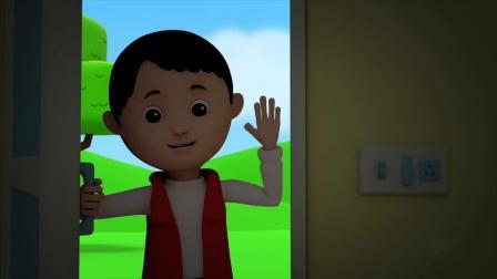 动画片,约翰尼·约翰尼·_鲍勃列车_歌曲幼儿_幼儿园童谣由儿童电视婴儿