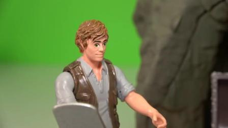动画片,侏罗纪世界2后 - 恐龙迅猛蓝,欧文找到由施莱希CROCODILE CAVE宝藏