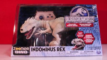 动画片,侏罗纪世界Indominus雷克斯ZOOMER DINO VS Oynx,MiPosaur机器人恐龙对比+玩具评论