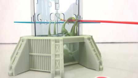 动画片,侏罗纪世界KERPLUNK W_猛禽恐龙局游戏挑战 - 玩具恐龙视频