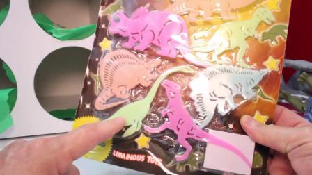动画片,侏罗纪世界恐龙玩具GAME _ Punchbox惊喜玩具挑战的玩具恐龙