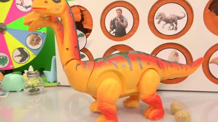 动画片,侏罗纪世界恐龙煤泥轮游戏_玩具恐龙,恐龙蛋+惊喜玩具