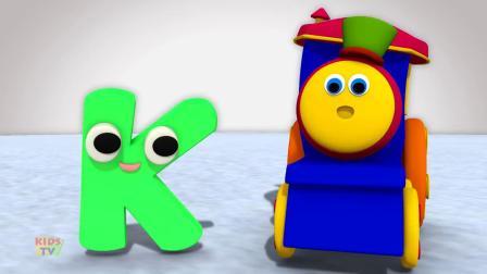 动画片,字母K歌_孩子_字母歌_ ABC歌曲_学习街上鲍勃学英语
