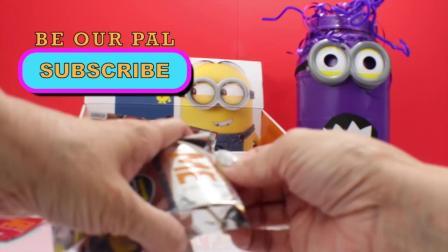 动画片,爪牙盲袋玩具+巨惊喜紫喽罗电影鸡蛋Juguetes