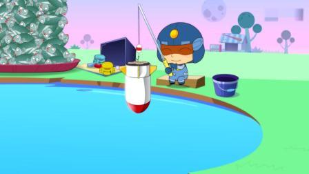 开心超人:超人们一起去钓鱼,甜心超人钓了一堆鱼,还有美人鱼呢粗心超人往水里放炮弹,结果水里的鱼都被炸死了!