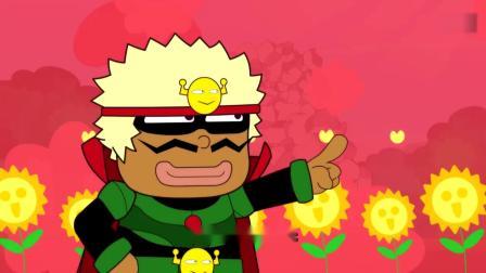 开心超人:开心超人以为找到了粗心超人,结果找到的却是乌龟!开心超人找不到粗心超人,原来是粗心超人躺在鸟窝里睡觉!