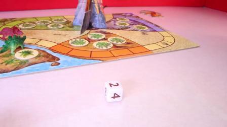 动画片,恐龙ESCAPE KIDS棋盘游戏_合作恐龙游戏的孩子和儿童