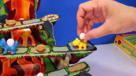 动画片,恐龙RAPTOR RUN棋盘游戏_恐龙局游戏的孩子家庭娱乐恐龙视频