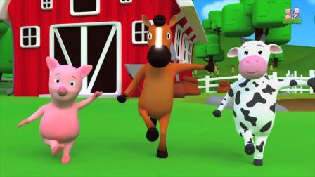 动画片,玛丽有只小羊羔_童谣_宝宝儿歌_儿童歌曲Farmees