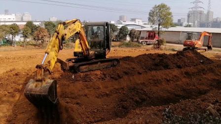 武汉特能教育挖掘机培训挖坑回填