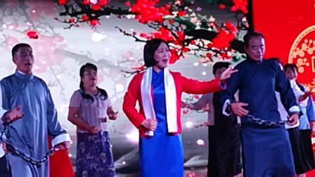 宝坻和谐之星艺术团表演的情景剧《绣红旗.  红梅赞》表演者谷素莲等
