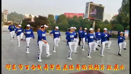 邵东百合曳舞军团晨练舞蹈视频片段展示《桑巴》