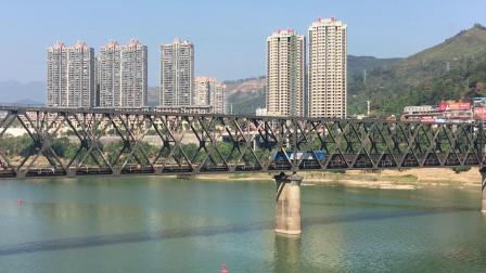外南线 19202次通过南平闽江特大桥继而接近南平站