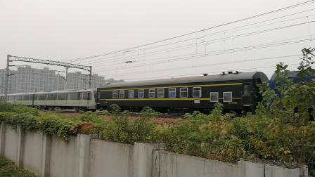 地铁回送『2019.10.27沪昆铁路』【杭州东站附近】HXD1B0513牵引 上海地铁二号线 回送