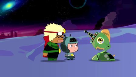 开心超人:大大怪要把星星球变成冬天,把星星球人都赶走!大大怪让天气怪把星星球变成冬天,天气怪把他和小小怪冻住了!