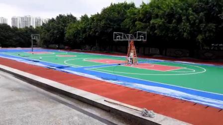 塑胶篮球场,羽毛球场地坪材料--广州嘉华体育