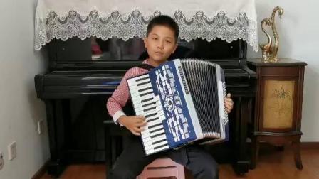 儿童C组 062张开云 《在巴黎的天空下》深圳南山杯手风琴网络大赛