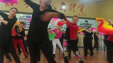 阳泉老体协第八套健身秧歌培训何老师口令教学