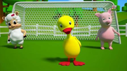 动画片,学习动物名称_动物宋_ 3D儿童影片由Farmees