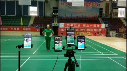 中国新时代有氧健身操总教练胡艳杰在河南许昌精彩讲解