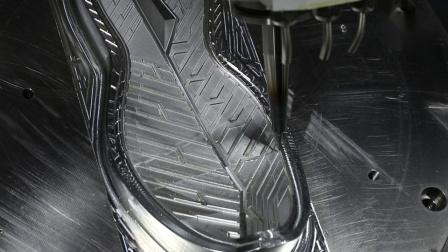 五轴立式铣车复合加工中心样件加工——鞋底模具