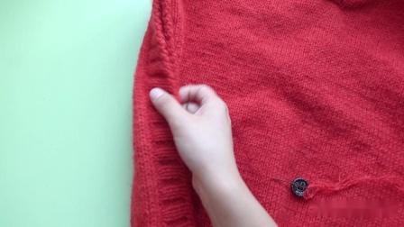 【柚子】2/2集 亲子帅气雨披式连帽斗篷 乖诺诺新手编织教程