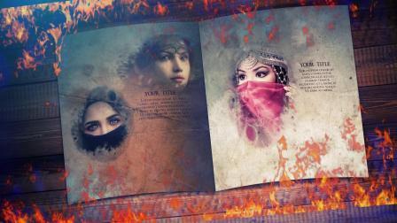 AE模板-奇幻故事书图片展示片头 Fantasy Book Opener Slideshow