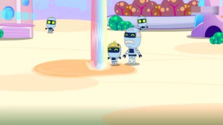 开心超人:小朋友困在果汁桶里,开心和甜心合作,救下了小朋友!开心把榨汁机怪兽引到了市区,让星星球人享受了,免费的果汁雨!