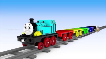 街头交通工具玩具火车交通工具儿童学习颜色,车辆停车录像