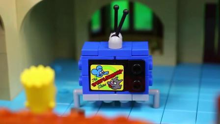 """动画片,《乐高辛普森一家》中巴特·辛普森的""""玩具评论""""和""""玩具儿童""""的形象栩栩如100生"""