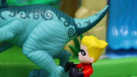 动画片,《超人特工队2》被传送到了《侏罗纪世界2堕落王国》