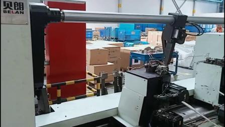 贝朗自动化生产厂家推出的双头线材成型机生产汽车座椅钢丝支架