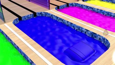 街道车辆与彩色木制滑块为儿童颜色和形状,供儿童学习