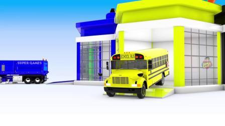 街道车辆与汽车车库玩具颜色滑块为儿童停车,学习儿童的颜色