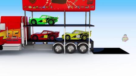 街道车辆玩具厂为孩子们学习色彩,为孩子们制作车辆停放视频