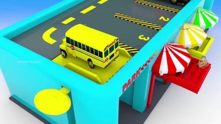 街道车辆玩具多层停车城市火车运输,学习儿童色彩