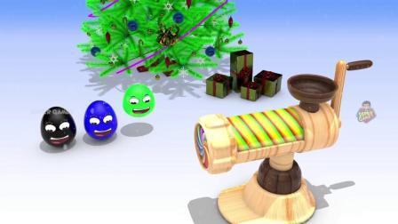 马路上的车辆用惊奇的鸡蛋和滚动的机器学习儿童的颜色,车辆