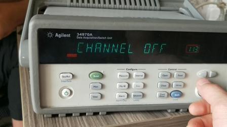 Aglent 34970A 温度记录仪 数据采集器测试视频