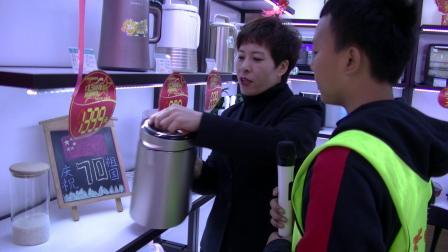 七台河圆梦口才艺术学校小记者王建伟在大商九阳家电采访