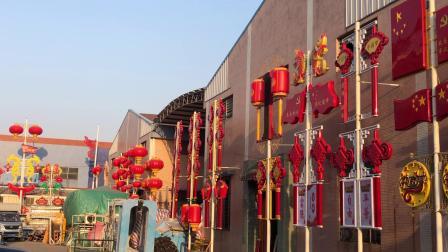 路灯上的LED中国结灯笼挂件生产厂家【中山市祥晖灯饰有限公司】