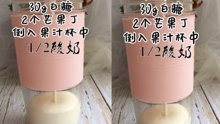 自制现酿手工酸奶芒果酸奶蛋糕