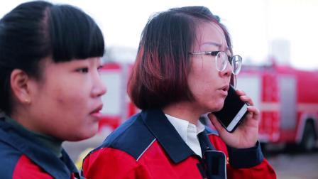 蓝火苗燃气站 昆区消防救援大队二中队消防联合演练
