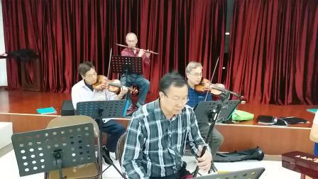 广东音乐《凤凰台》北京街乐队现场活动,摄影英子