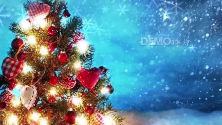 配乐视频 公司晚会 s888 超唯美圣诞树圣诞礼物圣诞节快乐祝福视频背景素材 春节晚会 舞台背景视频